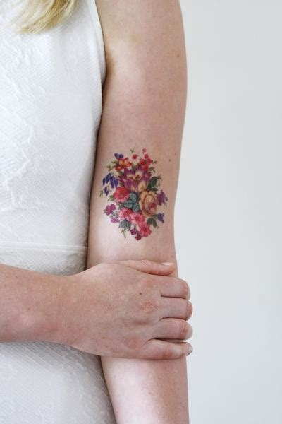 floral temporary tattoos pretty colorful vintage floral temporary
