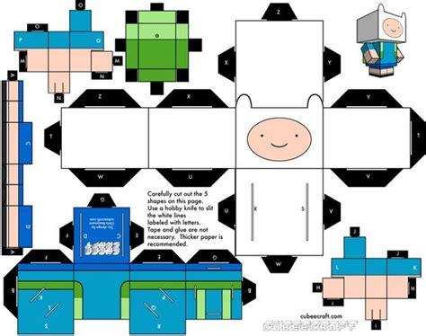 Adventure Time Paper Craft - cubecraft simple y barato adventure salem s lot and