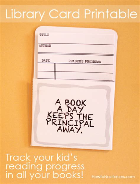 school library card template library cards track your kid s reading progress free