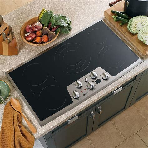 Flat Cooktop Ge Profile Pp962smss 36 Quot Built In Electric Cooktop