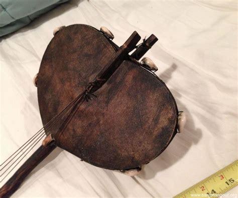 Handcrafted Banjo - antique tribal banjo mandolin leather guitar handmade