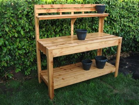 potters bench plans outdoor potting bench with storage home ideas