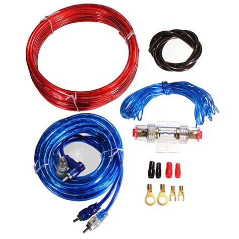 sub wiring kit 1500w complete 10 car lifier cable speaker