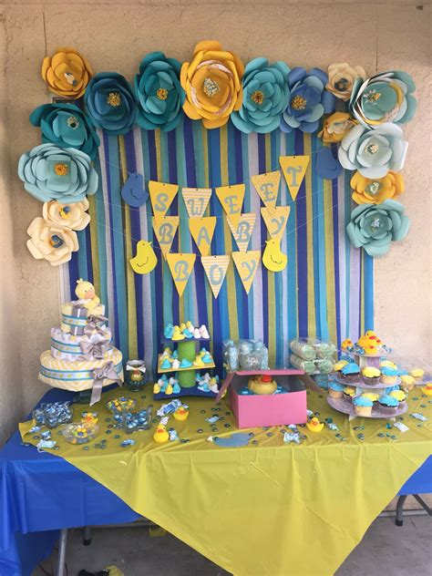 Rubber Duckie Baby Shower by Rubber Duckie Theme Baby Shower Paper Flowers And