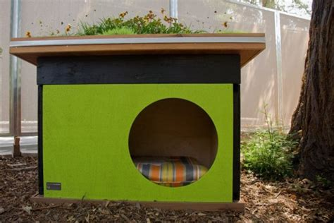 green dog house green prefab dog house ideas