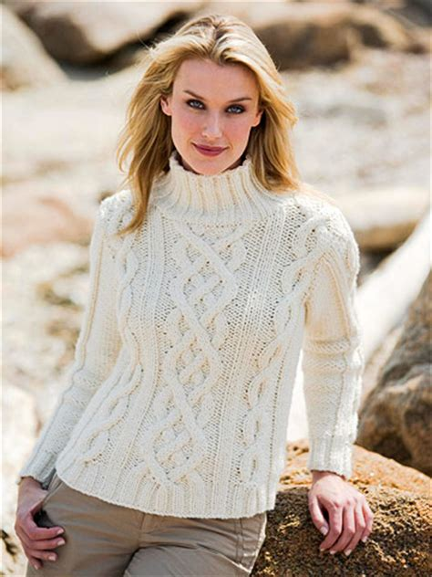white pattern knit sweater white cable sweater free knitting pattern from the womens