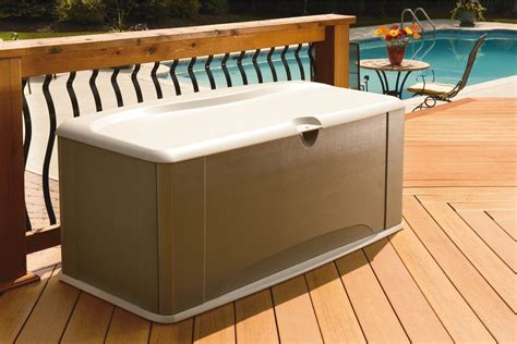 rubbermaid deck box with seat storage box rubbermaid deck seat resin new lock buffet