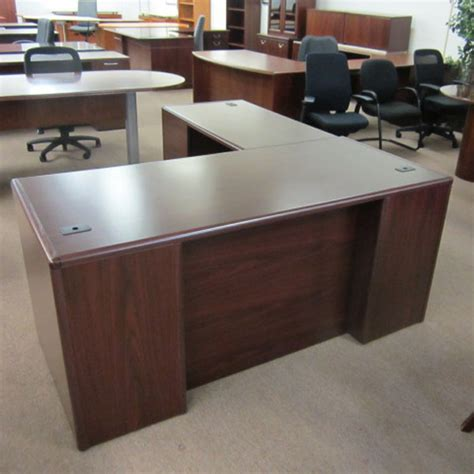 hon reception desk used office desks hon quot l quot shaped desks at furniture finders