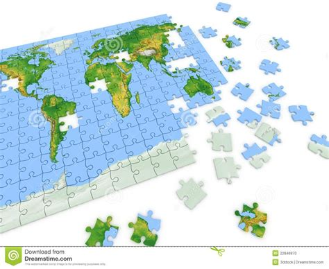 printable map puzzle of world puzzle map of the world stock photo image 22846970