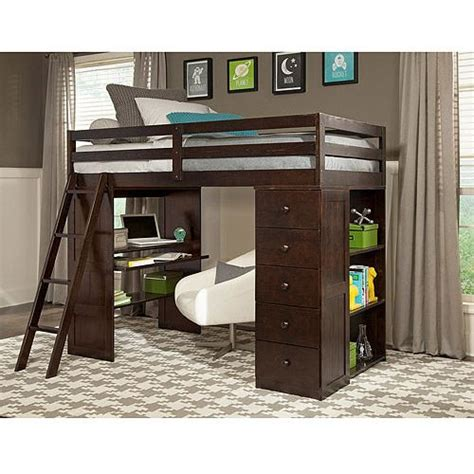 desk and storage canwood skyway loft bed with desk storage tower
