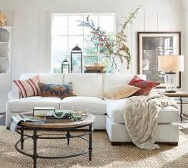 Pottery Barn Sectional Sofa Townsend Upholstered Roll Arm Sofa With Reversible Storage Chaise Sectional Pottery Barn