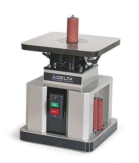 delta bench spindle sander 31 483 delta 31 483 oscillating spindle sander finewoodworking