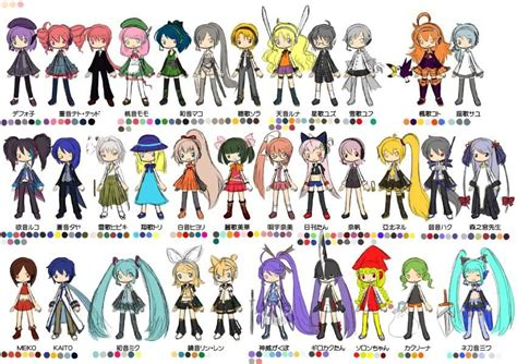 Q Anime Names by Vocaloid Characters List Names Www Imgkid The