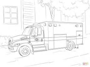 Emergency Vehicle Coloring Pages emergency car coloring page free printable coloring pages