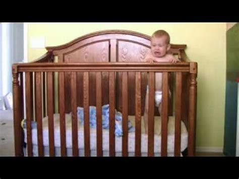 Hahahaha Baby Gets Out Of Crib Youtube How Big Is A Baby Crib