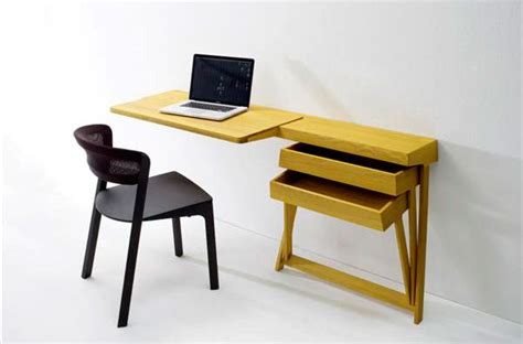 small work desk table space saving ideas for a small home office living big in