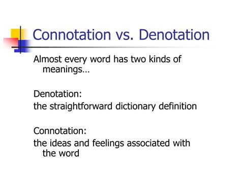 neutral connotation ppt connotation vs denotation powerpoint presentation
