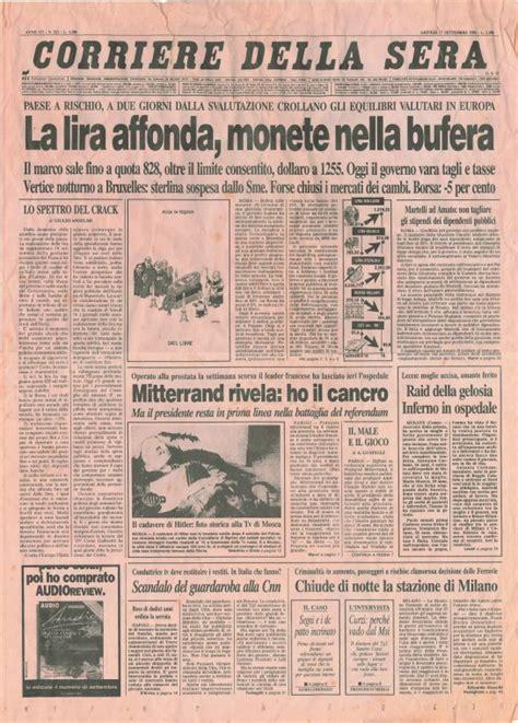 lettere unimore it ritorno alla lira era il 1992 italians