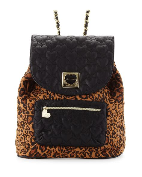 Betsey Johnson Quilted Backpack by Betsey Johnson Leopardprint Quilted Backpack In Animal
