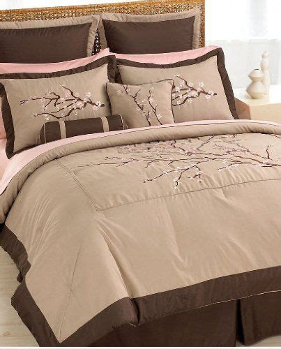 pink and brown comforter set re pin cherry blossom bedding gorgeous pink and
