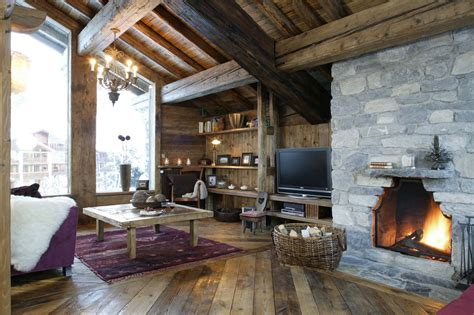 Chalet Fireplace by Chalet In Val D Isere By Skiboutique