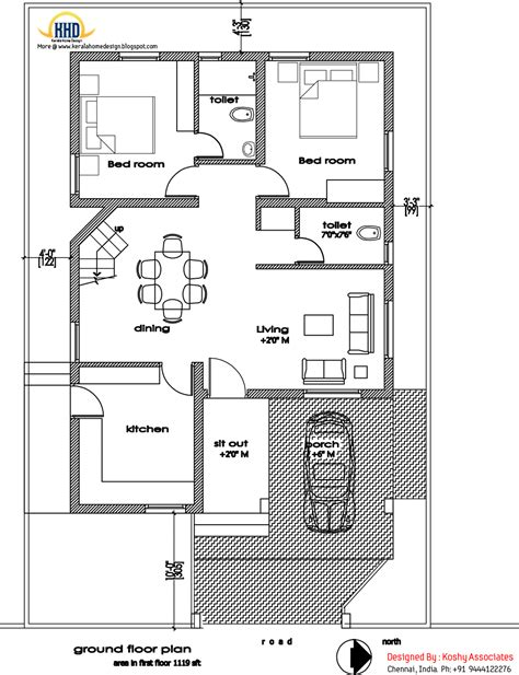 blueprint floor plans modern home design 1809 sq ft kerala home design and floor plans