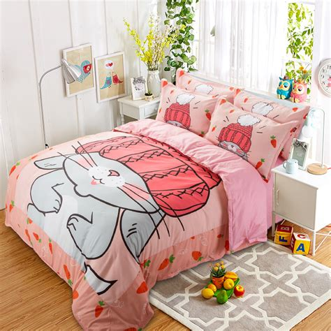 King Rabbit Bed Cover Single 140x230 Cm Motif Hana Coklat popular beds buy cheap beds lots from china beds suppliers
