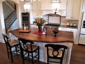 Kitchen Island With Granite Top And Breakfast Bar Afromosia Custom Wood Countertops Butcher Block