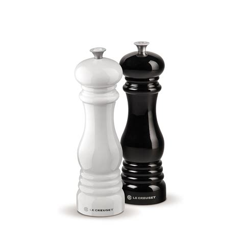 Set Sachi White Bw le creuset salt and pepper mill set black and white mg610 bw j l hufford