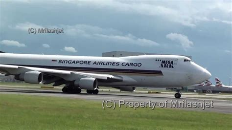 singapore airlines cargo 747 400f 9v sfj at heathrow airport