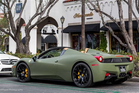 matte green ferrari matte green ferrari 458 italia by platinum motorsport
