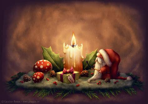 santa light  candle art  caroline nyman