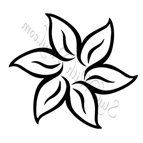Easy Real Flowers To Draw by How To Draw Flowers Easy Flower To Draw Menmadeho