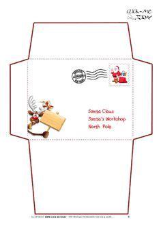 free santa envelope template printable santa letter envelopes that come with the