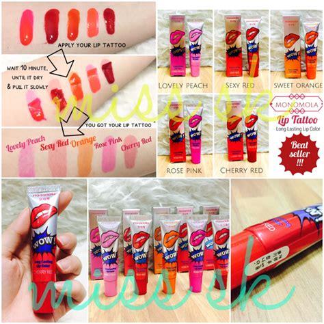 Monomola Lip Tato jual wow monomola korea tato bibir lip