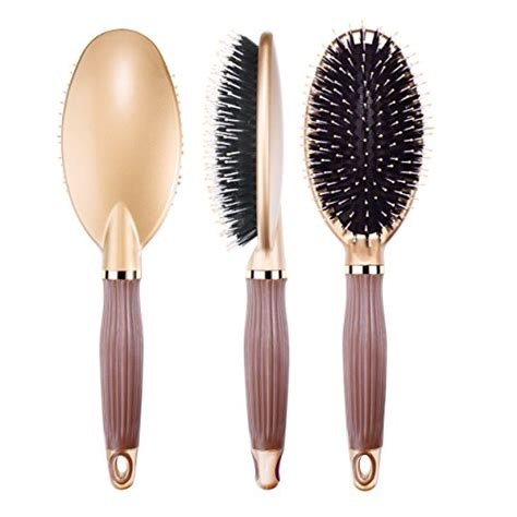 Drying Curly Hair With A Brush bibtim boar bristle paddle hair brush for and