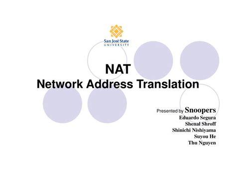 network address translation tutorial ppt ppt nat network address translation powerpoint