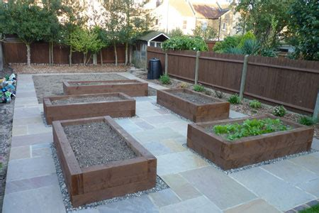 Building A Raised Bed With Sleepers by Railway Sleepers Cambridge Building Raised Beds
