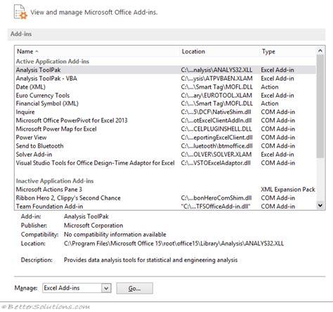 excel 2010 analysis toolpak tutorial add in tab excel 2010 missing ms excel 2013 display the