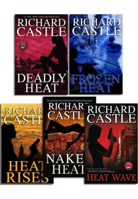 heat castle books richard castle 5 books collection set heat series