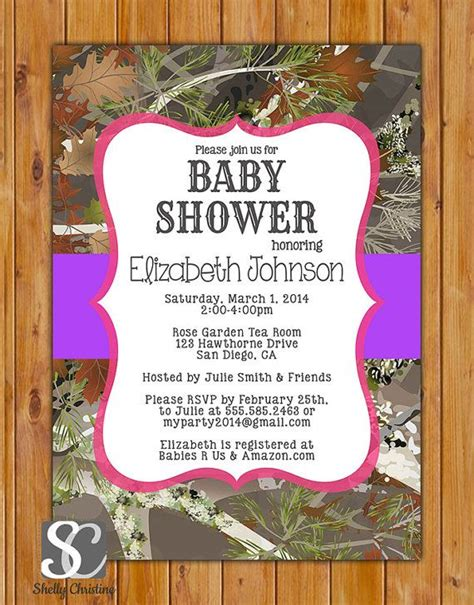 Mossy Oak Baby Shower Invitations by 17 Best Pink Camo Baby Shower Images On Camo