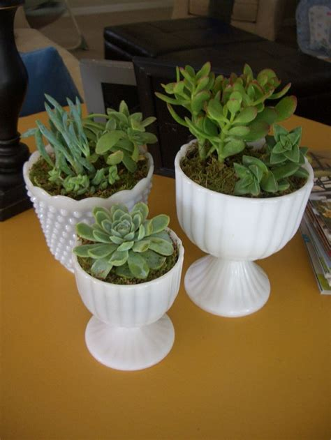 milk glass planter milk glass planters home