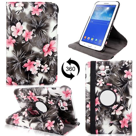 Targus Samsung Tab3 7 360 Rotating With 4 Stand Support Position Leather Sarung Kulit Tab 3 for samsung galaxy tab 4 7 0 quot 7 inch folio cover 360 rotating rugged stand ebay