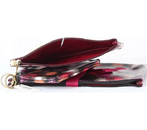 Tas Sling Bag Wanita Jss 234 fossil multi colour patterned 3in1 pouch