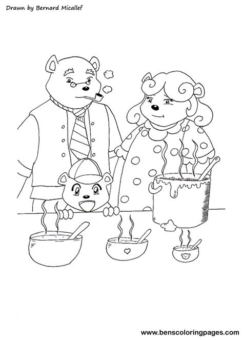 three bears coloring page three little bears coloring pages coloring pages