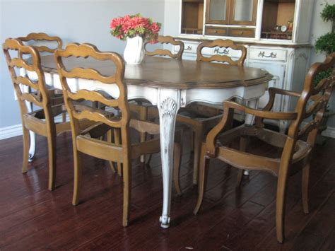 french country distressed dining set european paint finishes french provincial dining set