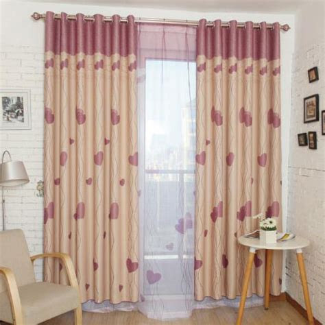 pink patterned curtains online pink print patterned polyester color block kids curtains