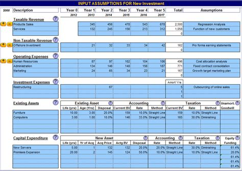 Business Valuation Spreadsheet Template Business Valuation Model Excel