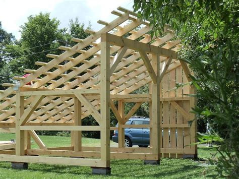 timber frame solar power shed dragonfly builders