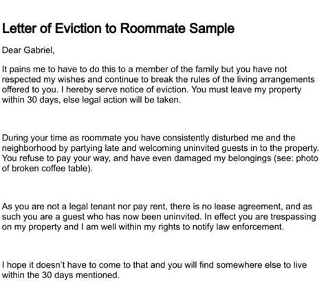 sle eviction notice letter florida awеѕоmе sle eviction letter to family member stock images